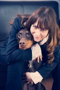 Jacqueline with her dog, Esper
